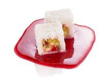 Sweet sushi roll isolated Stock Image