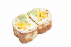 Sweet sushi roll isolated on white background Stock Image