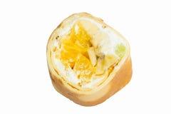Sweet sushi roll isolated on white background Stock Photo