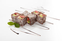 Sweet Sushi Rolls Royalty Free Stock Photography