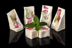 Sweet sushi rolls royalty free stock photography