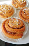Sweet swedish rolls, bulle Royalty Free Stock Photo