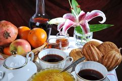 Sweet table. A dessert. Royalty Free Stock Images