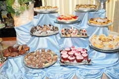 Sweet table3 Royalty Free Stock Image