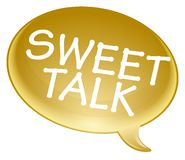 Sweet talk bubble Stock Images