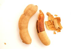 Sweet tamarind. A photo of Tamarind tropical fruit Royalty Free Stock Images
