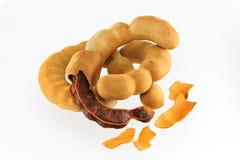 Sweet tamarind isolated. Sweet tamarind on a White background Royalty Free Stock Image