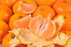 Sweet tangerine fruit close up Stock Photos