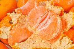 Sweet tangerine fruit close up Royalty Free Stock Image