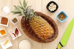 Sweet and tangy, hot and spicy pineapple chutney. Stock Photos