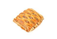 Sweet taro pie on white Royalty Free Stock Image