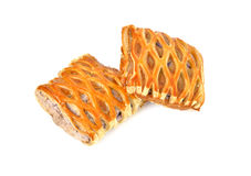 Sweet taro pie on white Royalty Free Stock Photography