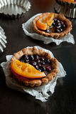 Sweet tartlets with fruit jelly Royalty Free Stock Image