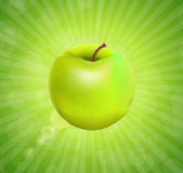 Sweet Tasty Apple. Vector illustration. Stock Photo
