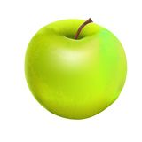 Sweet Tasty Apple. Vector illustration Stock Photography