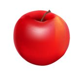 Sweet Tasty Apple Vector Illustration. Stock Photo