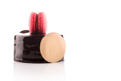 Sweet and tasty chocolate cake Stock Photos