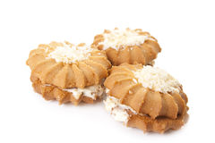 Sweet tasty cookies. On a white background Royalty Free Stock Images