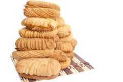 Sweet tasty cookies. On a white background Royalty Free Stock Photos