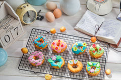 Sweet and tasty donuts made of fresh ingredients Royalty Free Stock Images