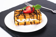 Sweet Tasty Viennese Waffles Stock Photo