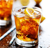Sweet tea with lemon and ice Royalty Free Stock Photo