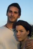 Sweet teen couple. Happy teenage hispanic couple  outdoors Stock Photos