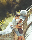 Sweet teen couple kissing. Royalty Free Stock Images