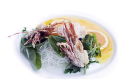 Sweet tempura shrimp heads Stock Photo