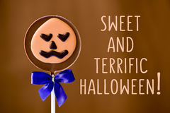 Sweet and terrific halloween Royalty Free Stock Photo