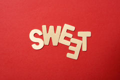 Sweet Text Royalty Free Stock Photography