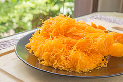 Sweet Thai dessert that is ancient and so long. Royalty Free Stock Photo