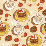 Sweet Time Seamless Background Royalty Free Stock Image
