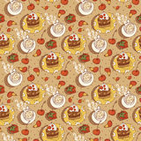 Sweet Time Seamless Background. This is file of EPS10 format Royalty Free Stock Image