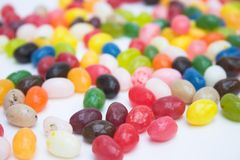 Sweet tooth!. Jelly bean candy - forefront focus Royalty Free Stock Image
