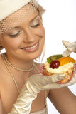Sweet tooth woman Royalty Free Stock Photography