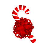 Sweet traditional Christmas candy on a white background. Vector Royalty Free Stock Image