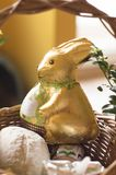 Sweet chockolade easter bunny royalty free stock photos