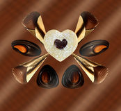 Sweet treats, Cookie and Pralines Stock Images