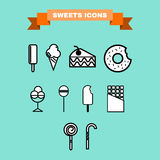 Sweet treats vector icon set Stock Images