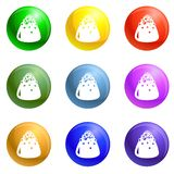 Sweet truffle icons set vector royalty free illustration