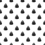 Sweet truffle pattern seamless vector illustration
