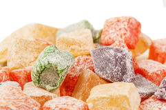 Sweet Turkish delight (lokum) Stock Photos