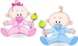 Sweet twins Royalty Free Stock Images