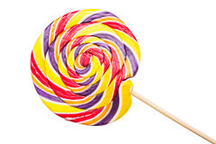 Sweet Twisted Lollipop Candy Isolated Royalty Free Stock Photography