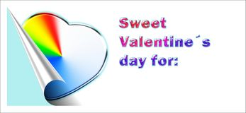 Sweet valentine´s card Royalty Free Stock Image