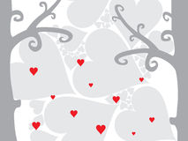A sweet valentine card. Vector illustration Royalty Free Stock Photos