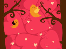 A sweet valentine card Royalty Free Stock Image