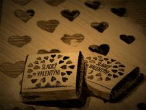 Sweet Valentine day stock photos