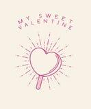 Sweet Valentine Ice Cream Stock Photography